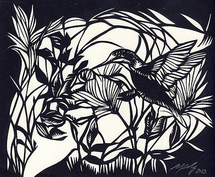 Alfred Ng - humming bird visit