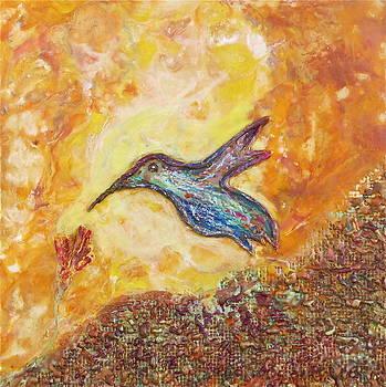 Hummingbird In Blue by Joe Bourne