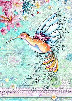 Hummingbird Inspirational Floral Painting Art Quote Faith by Megan Duncanson by Megan Duncanson