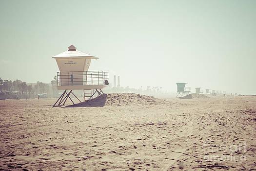Paul Velgos - Huntington Beach Lifeguard Tower #1 Retro Photo