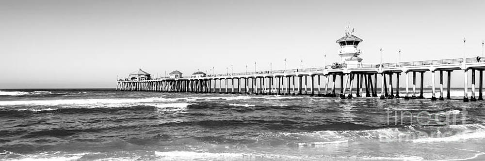 Paul Velgos - Huntington Beach Pier Black and White Panorama