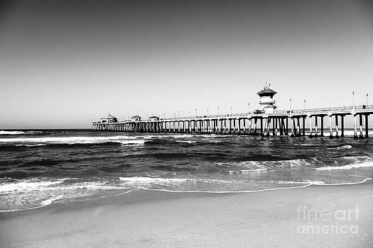 Paul Velgos - Huntington Beach Pier Black and White Picture