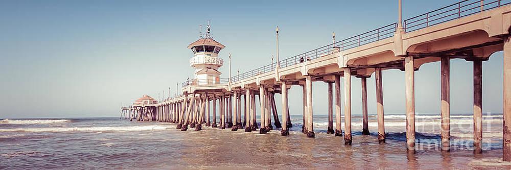 Paul Velgos - Huntington Beach Pier Retro Panorama Picture
