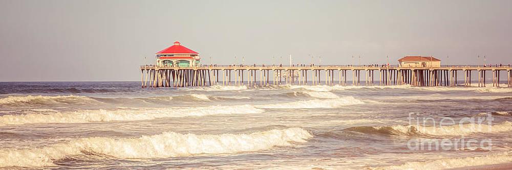 Paul Velgos - Huntington Beach Pier Retro Panoramic Picture