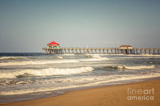 Paul Velgos - Huntington Beach Pier Retro Toned Photo
