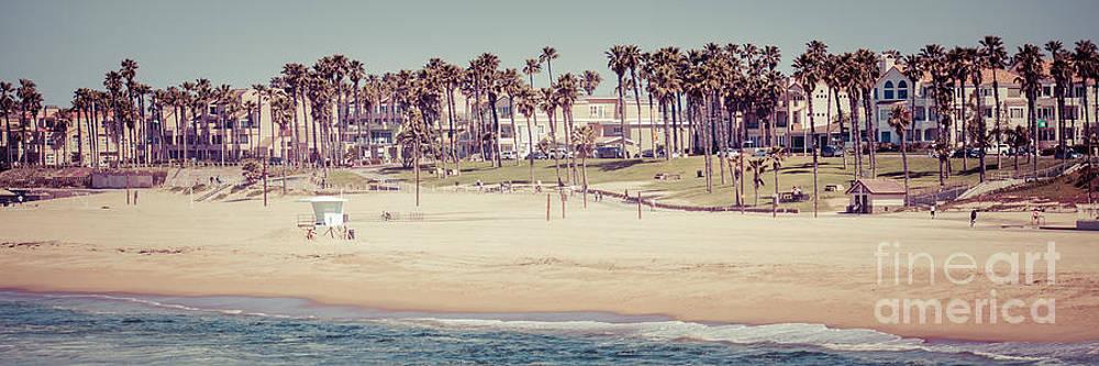 Paul Velgos - Huntington Beach Vintage Panorama Photo