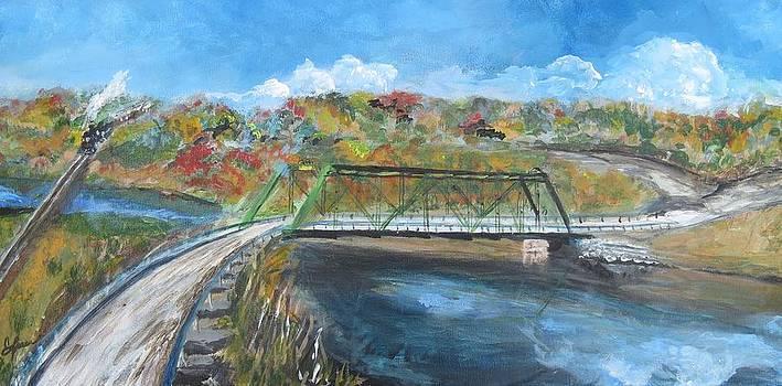 Huron River Bridge by Carolyn Speer