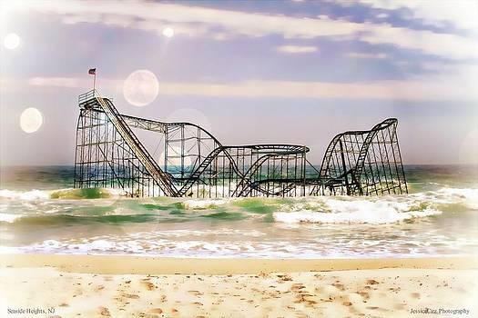 Hurricane Sandy Jetstar Roller Coaster Sun Glare by Jessica Cirz