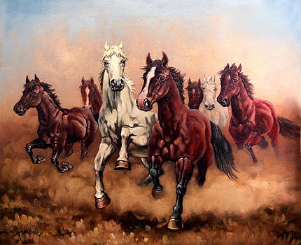 Hurry up my horses - seven angels by Dusan Vukovic