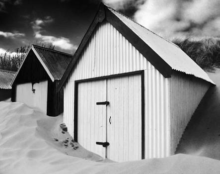 Huts In Sand by Russ Murry
