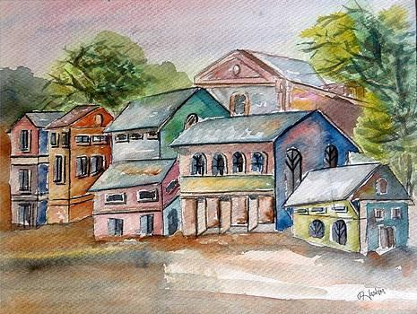 Huts Painting Original by Hashim Khan