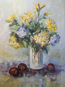 Hydrangeas and Plums by Brandi  Hickman