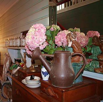 Hydrangeas in a Pot by Rebecca Smith
