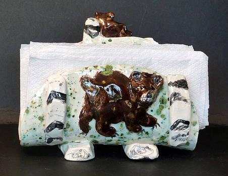 I can Bear It Napkin Holder by Debbie Limoli