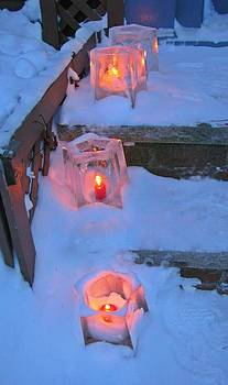 Ice Luminarias by Anne Sterling