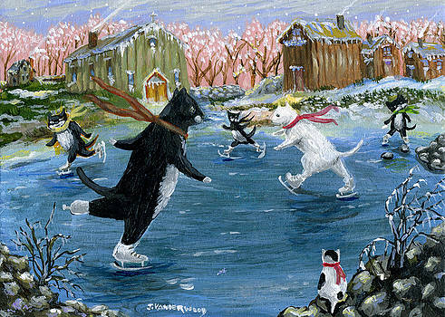 Ice Skating on the Lake by Jacquelin Vanderwood