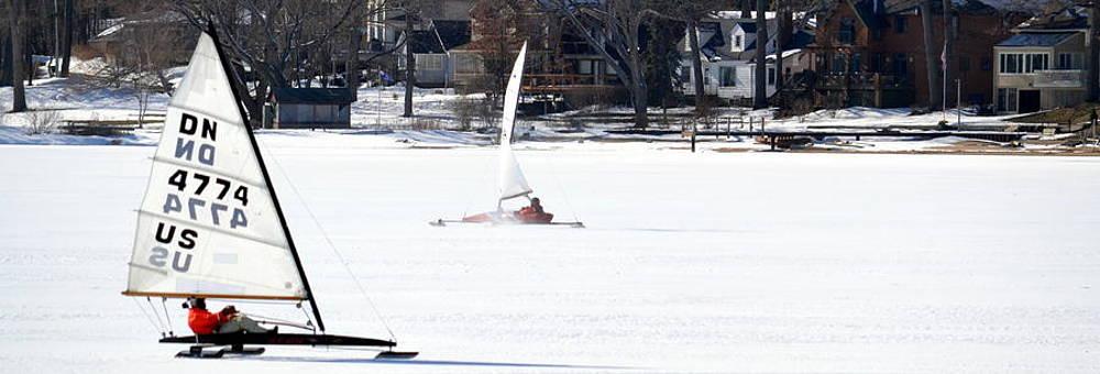 Michelle Calkins - Ice Yacht Race