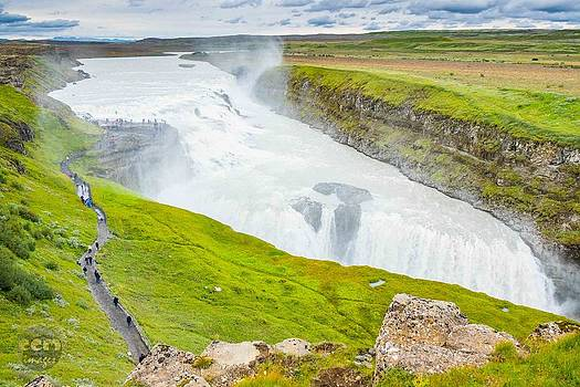 Gullfoss Waterfall Iceland by Cliff C Morris Jr