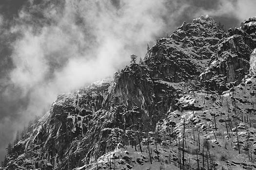 Icicle Ridge Black and White by Ross Murphy