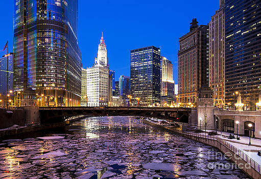 Icy Chicago River by Jeff Lewis