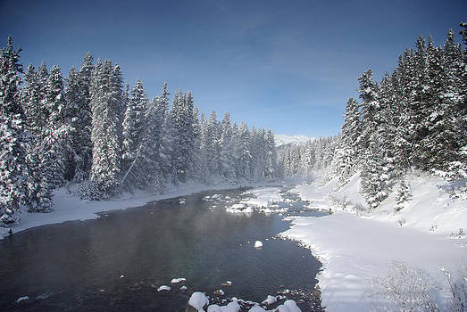 Icy River in Banff by Pete Hemington