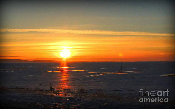 Icy sunset by Lisa Conner