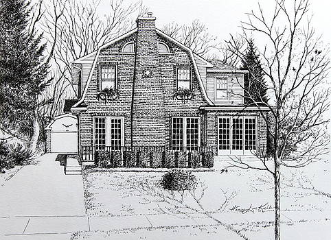 Hanne Lore Koehler - Illinois Home Portrait Drawing