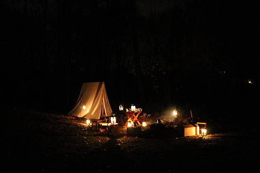 Illuminated Campsite by Valerie Chamberlin