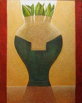Illuminated Vase by Bonnie  Schulte