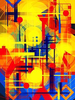 Illusion of night city by Mikko Tyllinen