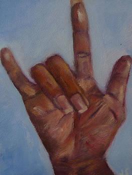 ILY Hand Study by Jessmyne Stephenson