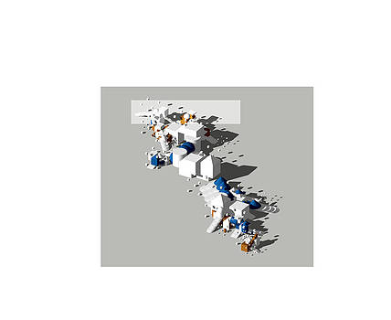 Image from architectural book Angle of Repose Three D Collage and Equality by Y-axis lab