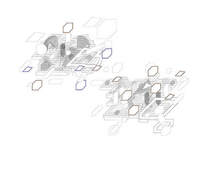 Image from architectural book Parallel Topography Three D Line Drawing and Community by Y-axis lab