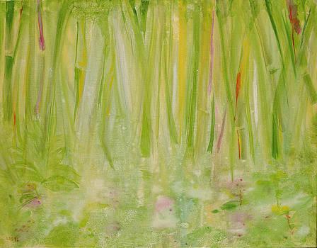 Laila Shawa - Impression Of The Rain Forest, 1991 Acrylic On Canvas