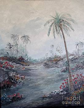 Impressionistic Palms by Rhonda Lee