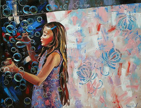 In a country blue dragonflies  by Anastasija Kraineva
