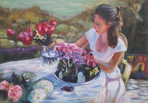 In the garden by Elena Sokolova