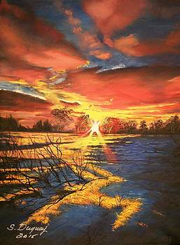 In The Still of Dawn-2 by Sharon Duguay