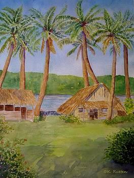 Inarajan Village Huts by Kathleen Rutten