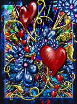 Incense Hearts and Daisies by Steve Farr