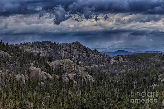 Incoming Storm Over the Black Hills of South Dakota by Steve Triplett