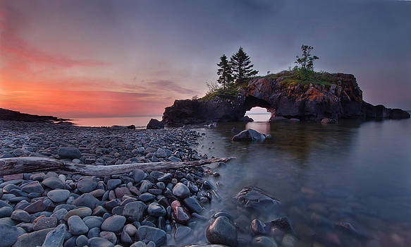 Incredible Dawn at Hollow Rocks North Shore MN by RB Art