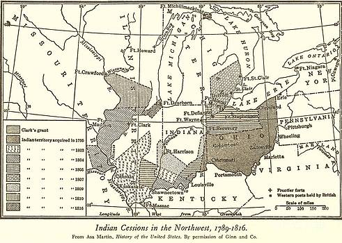 Reproduction - Indian Cessions - 1789-1816