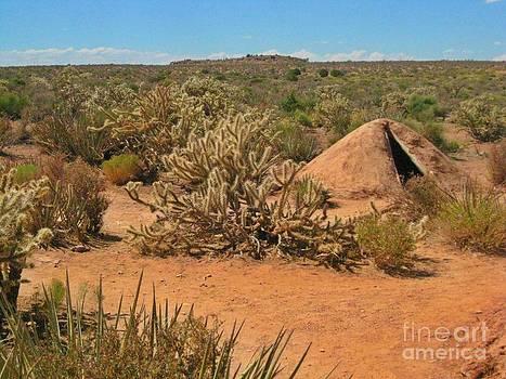 John Malone - Indian Earth Shelter in the Desert