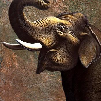 Indian Elephant 2 by Jerry LoFaro