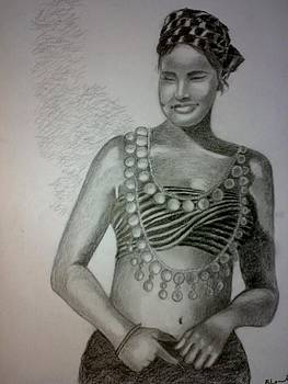Indian Tribal Woman by Bharati Subramanian