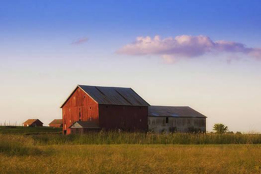 Indiana Country Barn at Sunset by Michael Huddleston