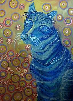 Indigo cat by Cherie Sexsmith