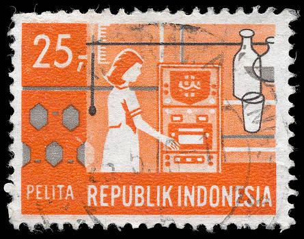 Indonesian Postage Stamp by Charles  Dutch