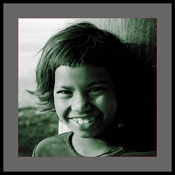 Innocent smile  by Santosh Jaiswal